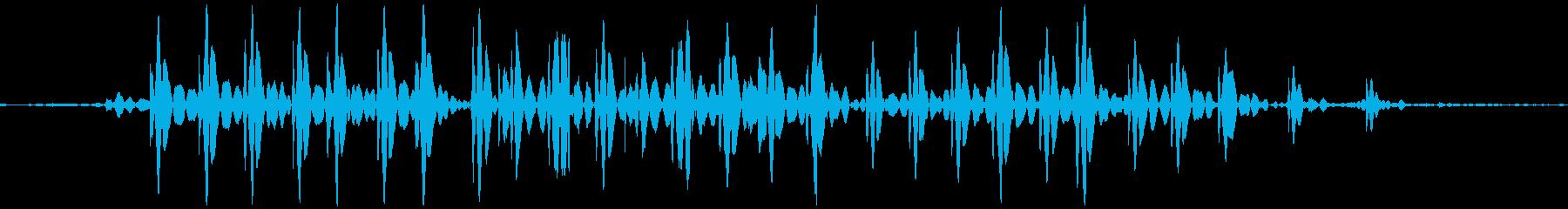 ブゥ。おならの音(低め・短め)の再生済みの波形