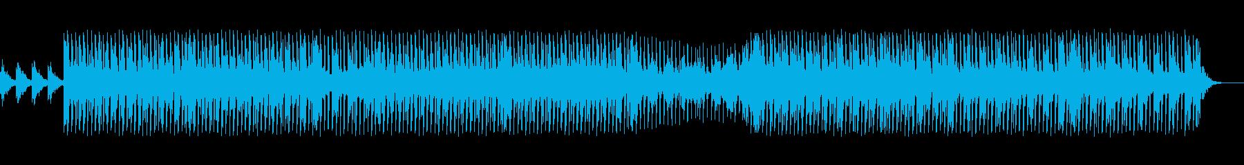 宇宙っぽい四つ打ちの再生済みの波形