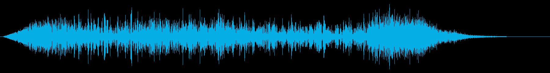 ゴーッという衝撃、火球・火炎系魔法#5の再生済みの波形