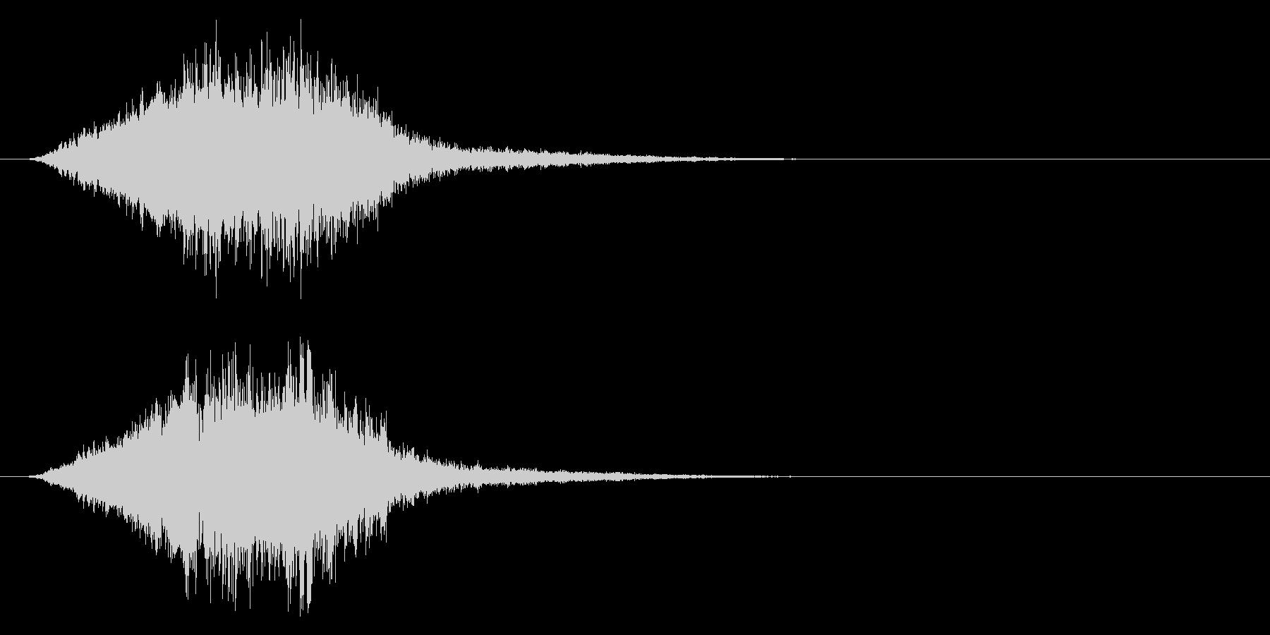 「不快音注意」ホラーME 恐怖 ヒット音の未再生の波形