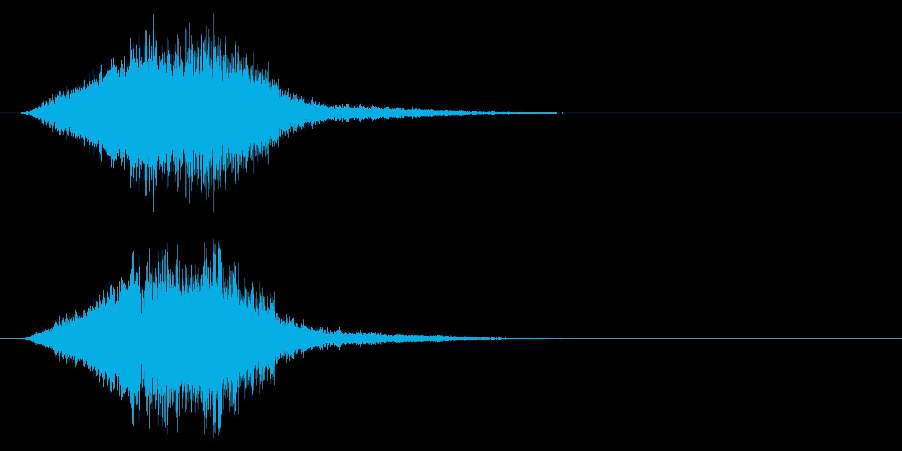 「不快音注意」ホラーME 恐怖 ヒット音の再生済みの波形