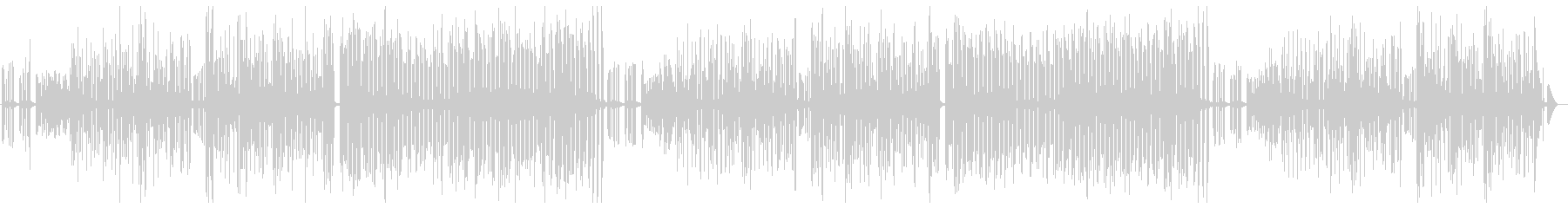 ほぼ3分クッキングの曲の未再生の波形