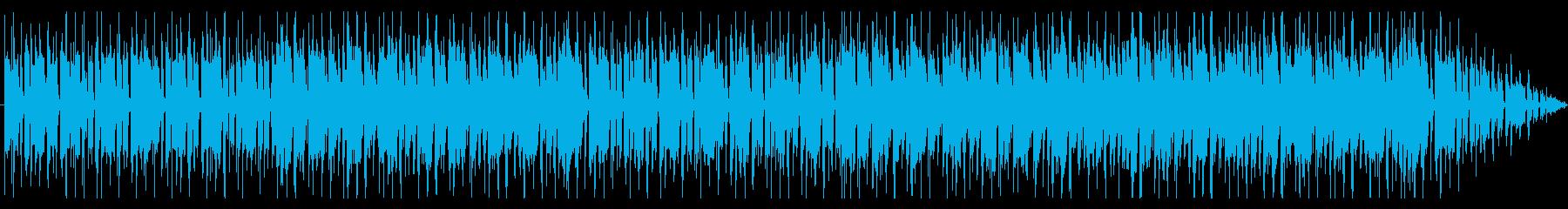 スラップベースが印象的なおしゃれBGMの再生済みの波形