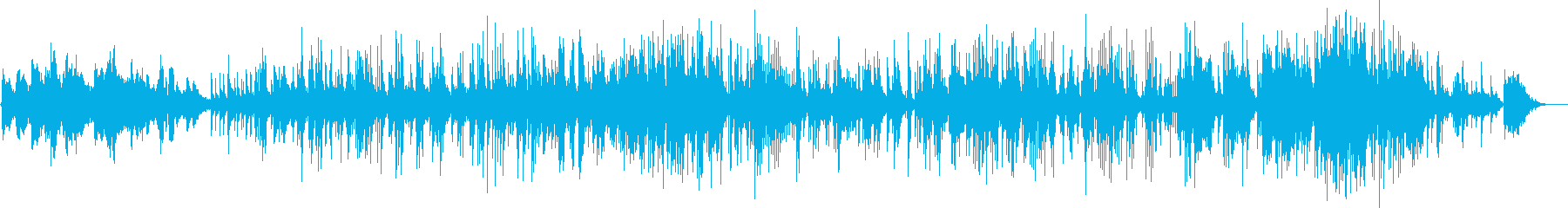 ピアノカルテット情熱的なjazzバラードの再生済みの波形