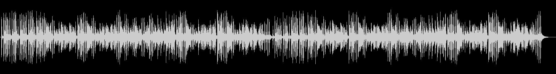 軽快なミディアムテンポのジャズピアノの未再生の波形