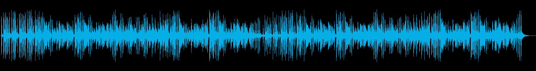 軽快なミディアムテンポのジャズピアノの再生済みの波形