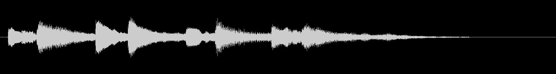 場面転換などにチアフルなピアノジングルの未再生の波形