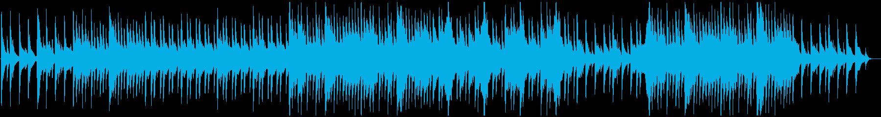 ゆったりした切ない和風楽曲の再生済みの波形