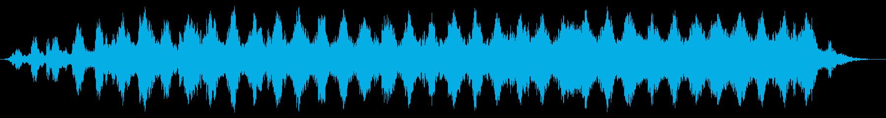 宇宙に浮遊しているような音楽の再生済みの波形