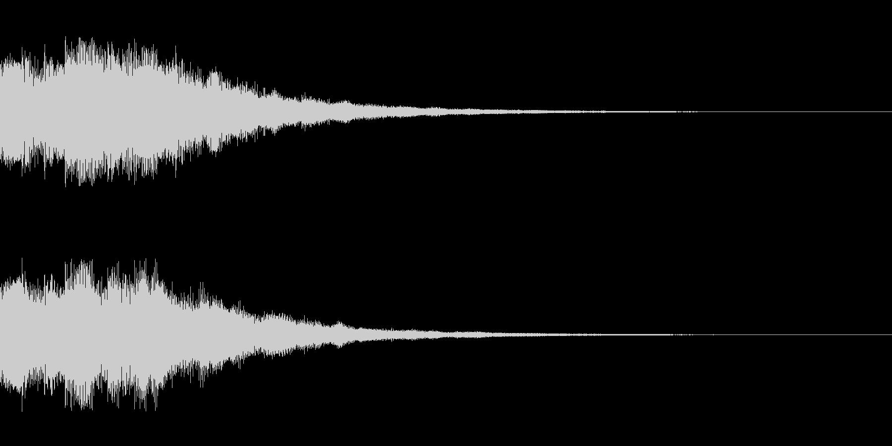 明るい電子音 レベルアップ4の未再生の波形