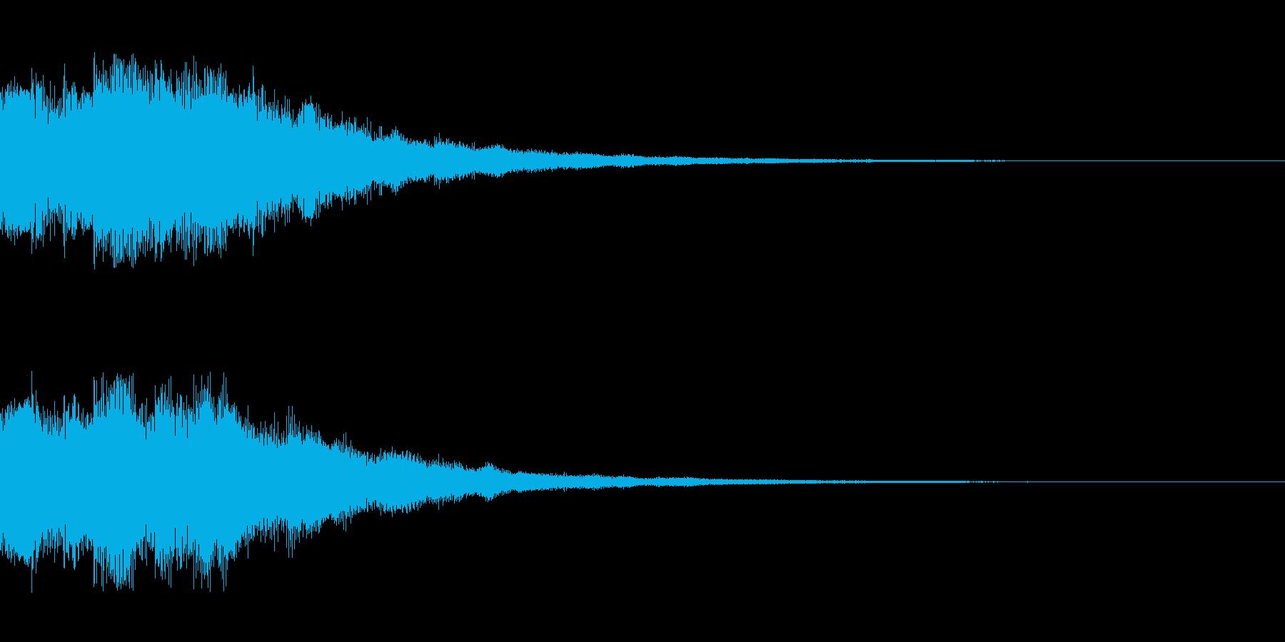 明るい電子音 レベルアップ4の再生済みの波形