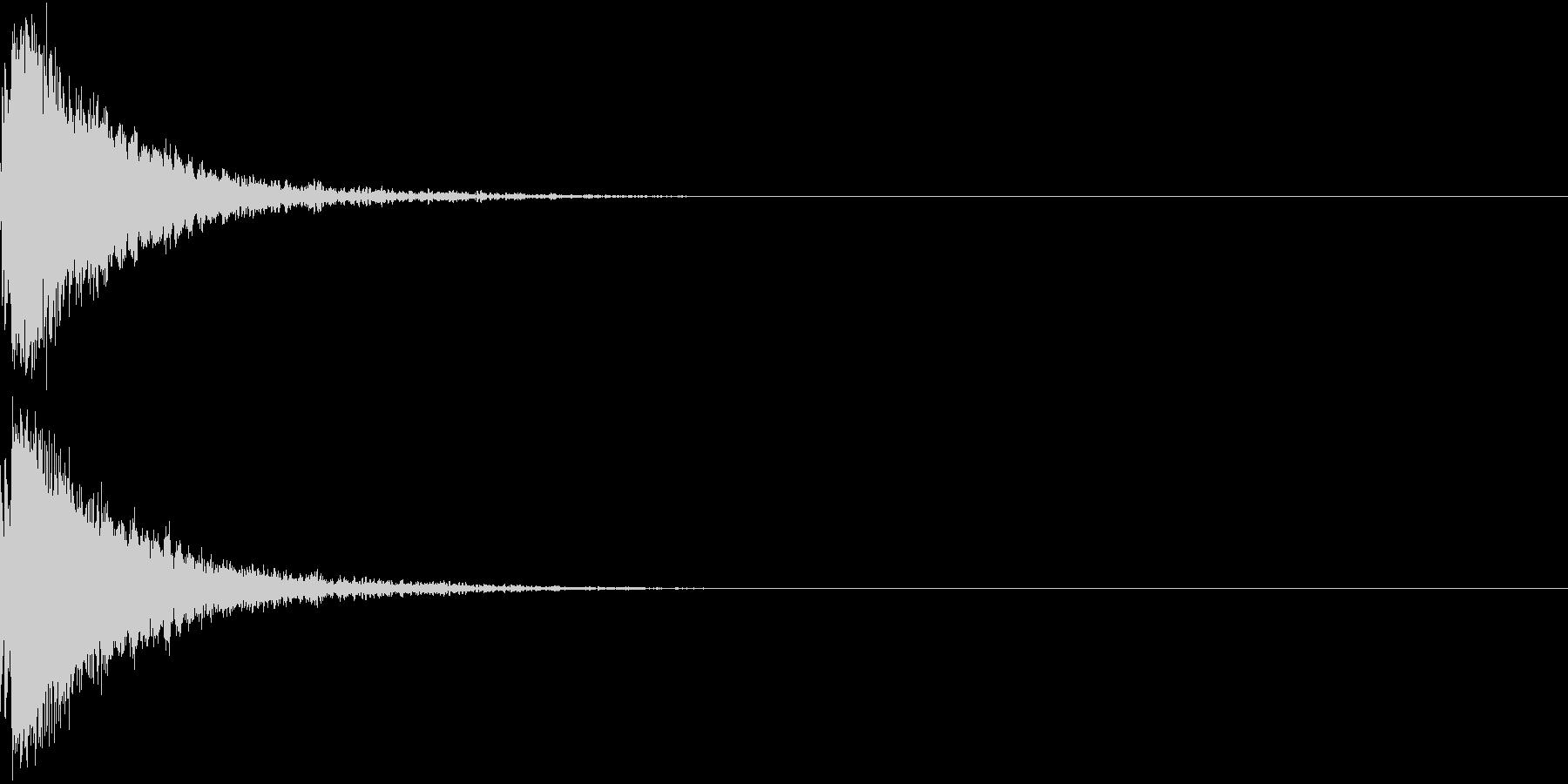 刀 剣 カキーン シャキーン 目立つ02の未再生の波形