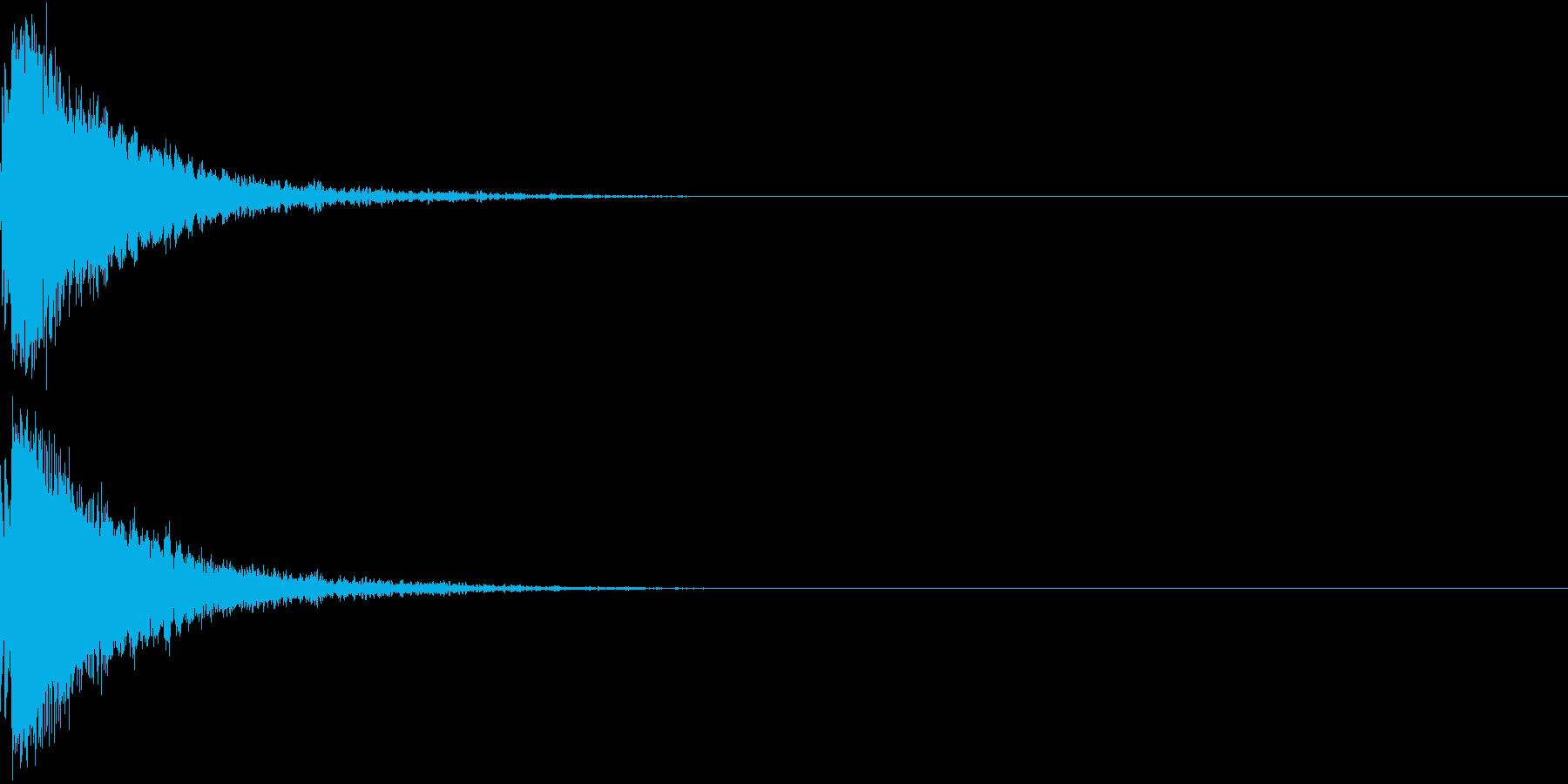 刀 剣 カキーン シャキーン 目立つ02の再生済みの波形