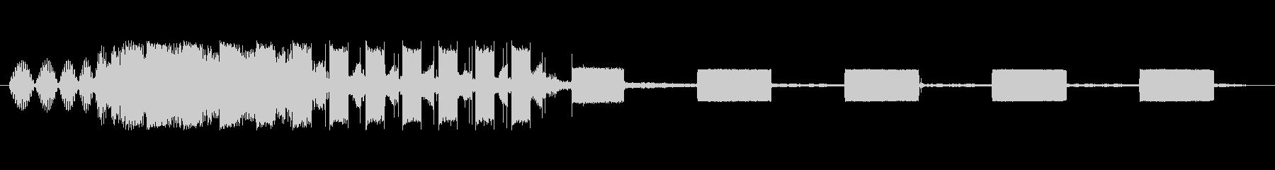 ダイヤルおよびビジー信号の未再生の波形