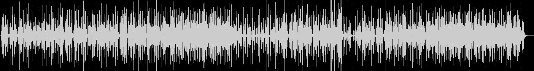 ゆったり陽気なシンセサイザーサウンドの未再生の波形