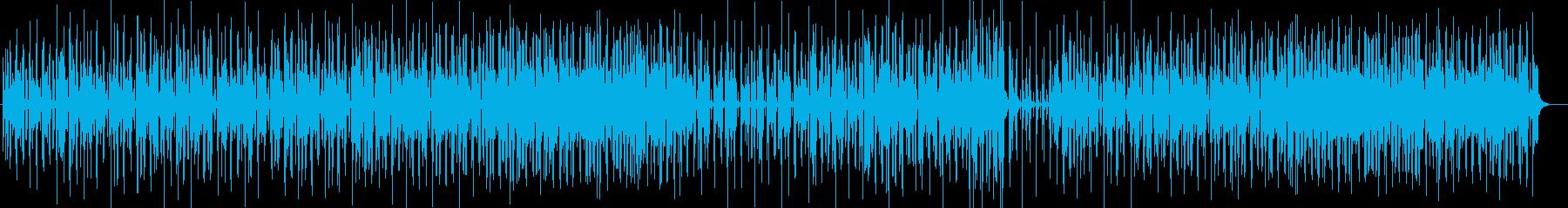 ゆったり陽気なシンセサイザーサウンドの再生済みの波形