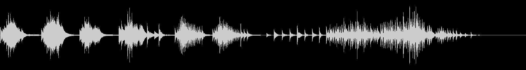ピアノ 不穏 悲しいの未再生の波形