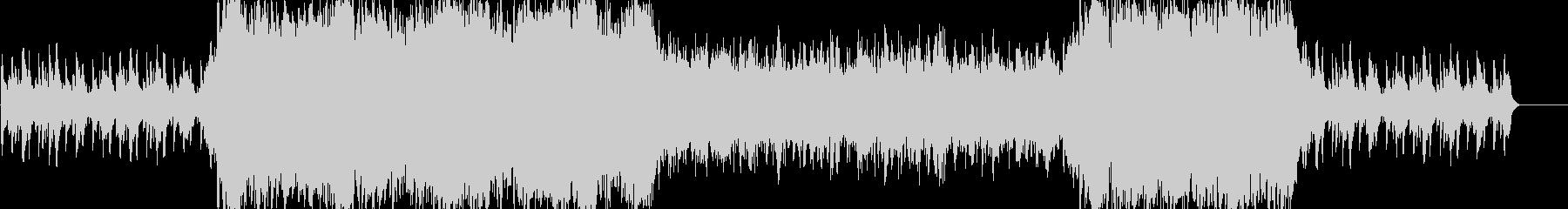 シンセサイザーの不思議な感じな曲の未再生の波形