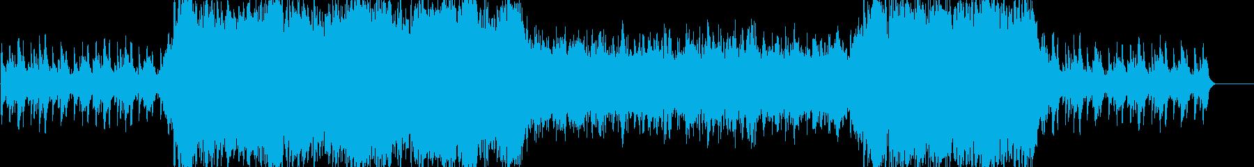 シンセサイザーの不思議な感じな曲の再生済みの波形