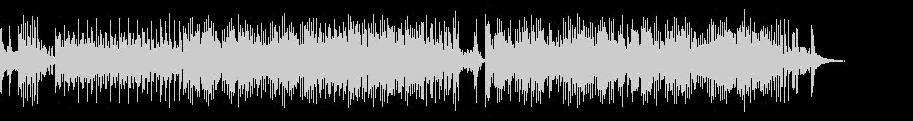 コミカルなピアノ曲の未再生の波形