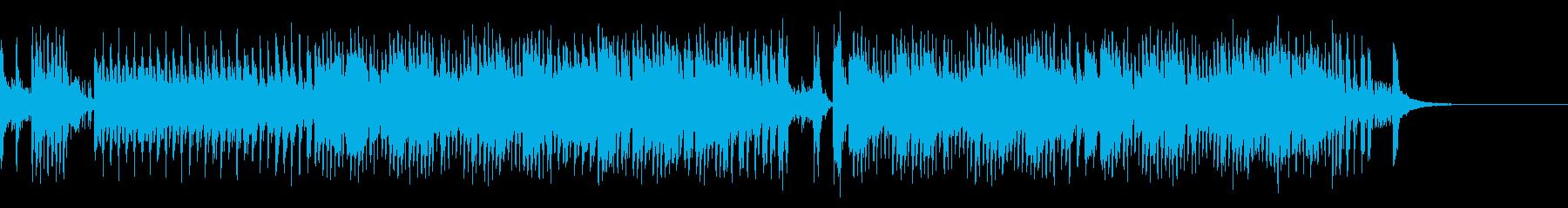 コミカルなピアノ曲の再生済みの波形