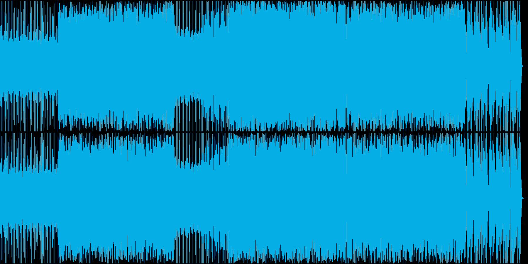 哀愁感があるエレクトロ風のBGMの再生済みの波形