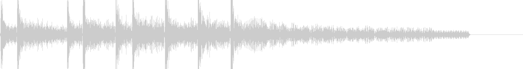 8bitアクションゲーム 死亡音の未再生の波形