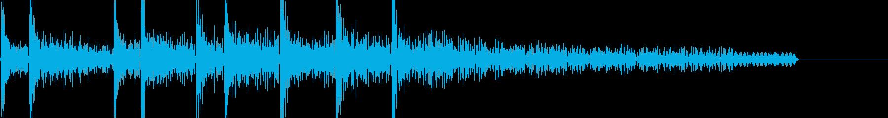 8bitアクションゲーム 死亡音の再生済みの波形