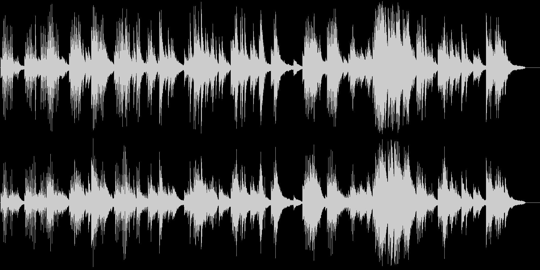 優しくロマンチックなピアノのバラードの未再生の波形