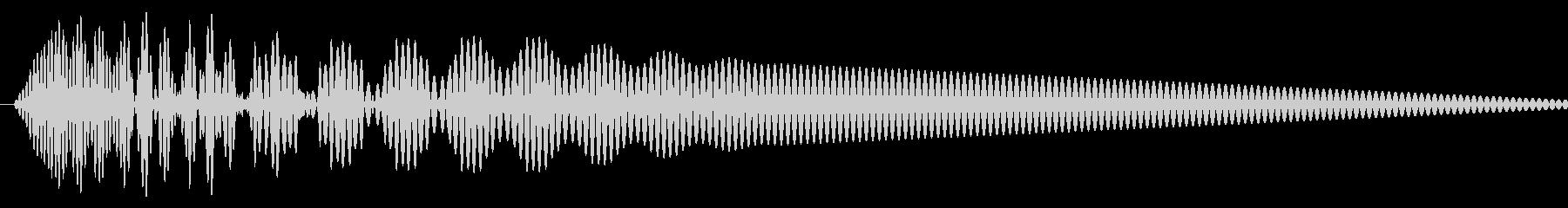 カーソル移動音2の未再生の波形