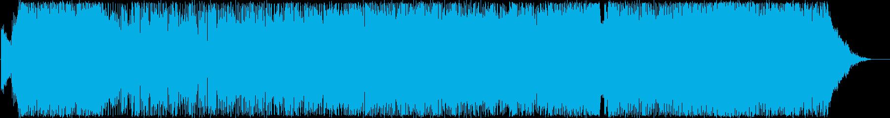 明るく軽快で躍動感のあるポップスの再生済みの波形