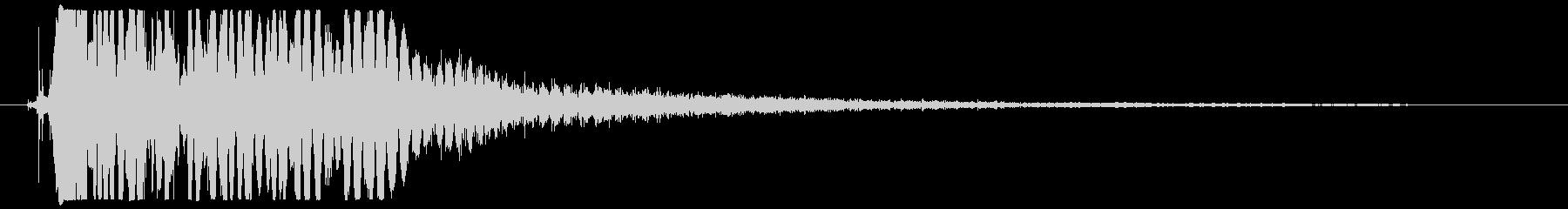 レーザーガン:シングルローピンショットの未再生の波形