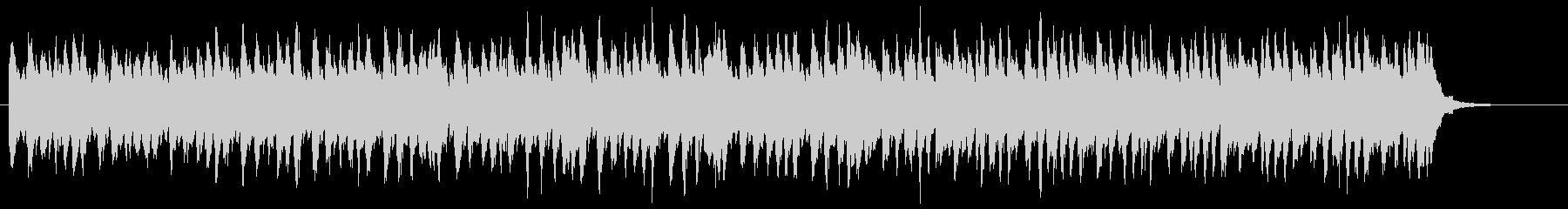ピアノとストリングスの近未来的なCM音楽の未再生の波形