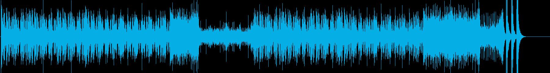 琴や笛の和楽器による和テイストのメロディの再生済みの波形