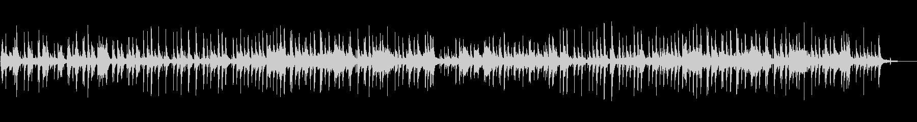 ピアノトリオによるジャズ風バラードの未再生の波形