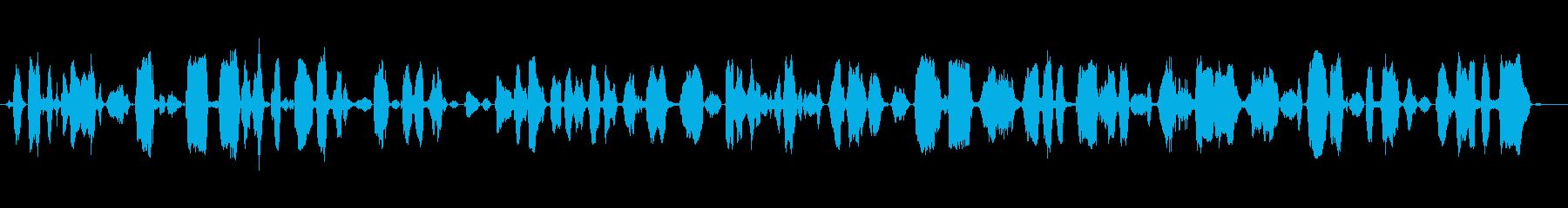 成人女性:嘆願するパニック叫びの再生済みの波形