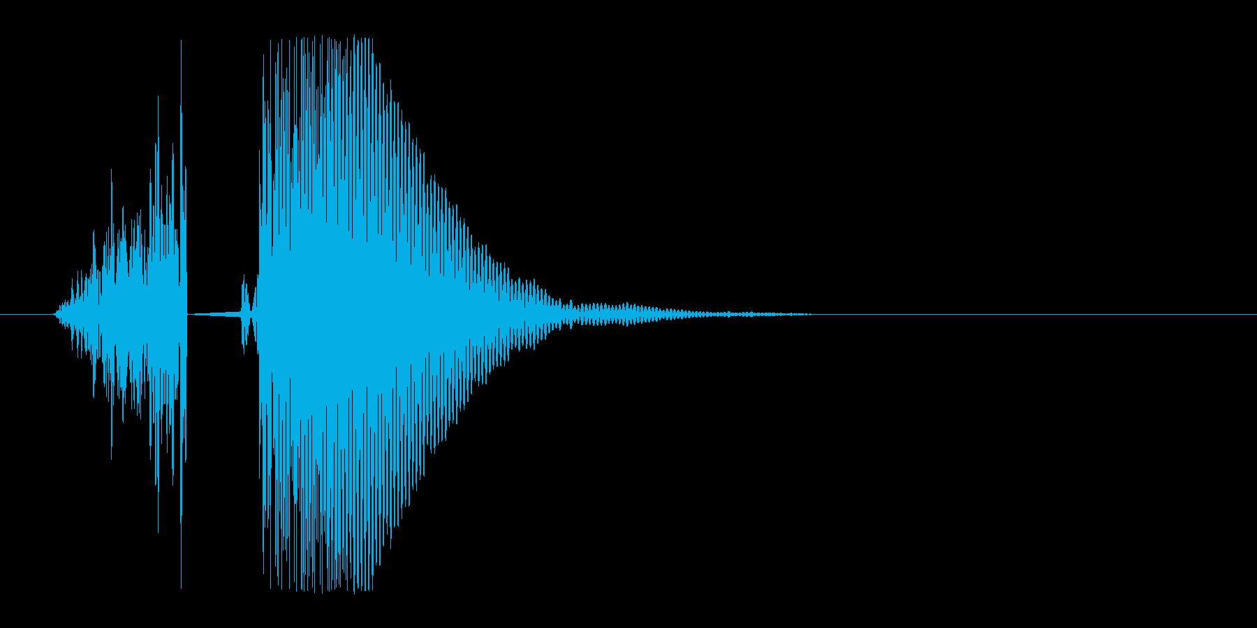 すぽっと栓がぬける音の再生済みの波形