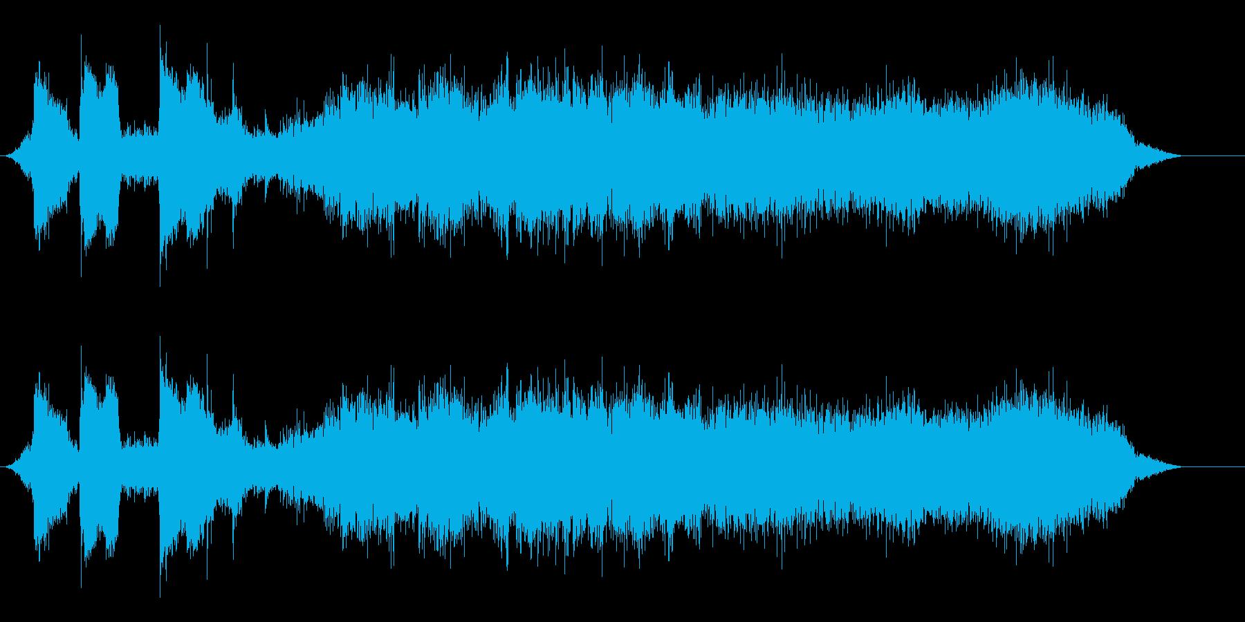 バスの出発と停止の再生済みの波形