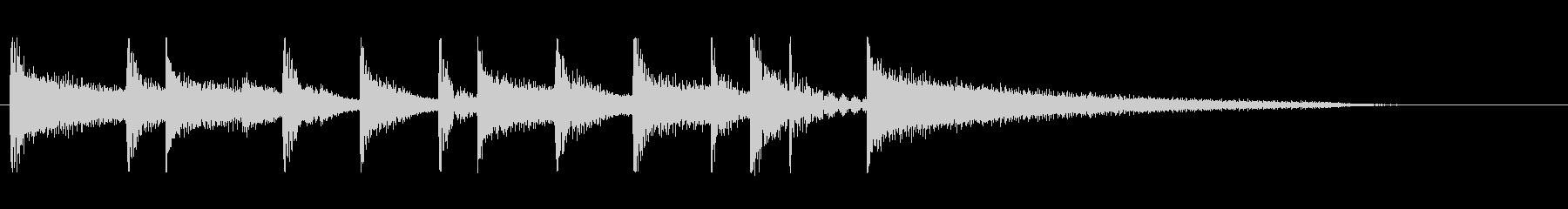 ほのぼの 鉄琴とピアノのバンドジングル2の未再生の波形
