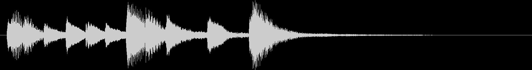 CMや映像に 繊細なシンプルピアノの未再生の波形