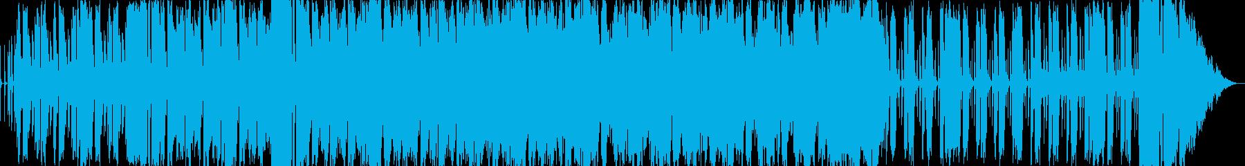 ブラスとフルートの明るくリズミカルな曲の再生済みの波形