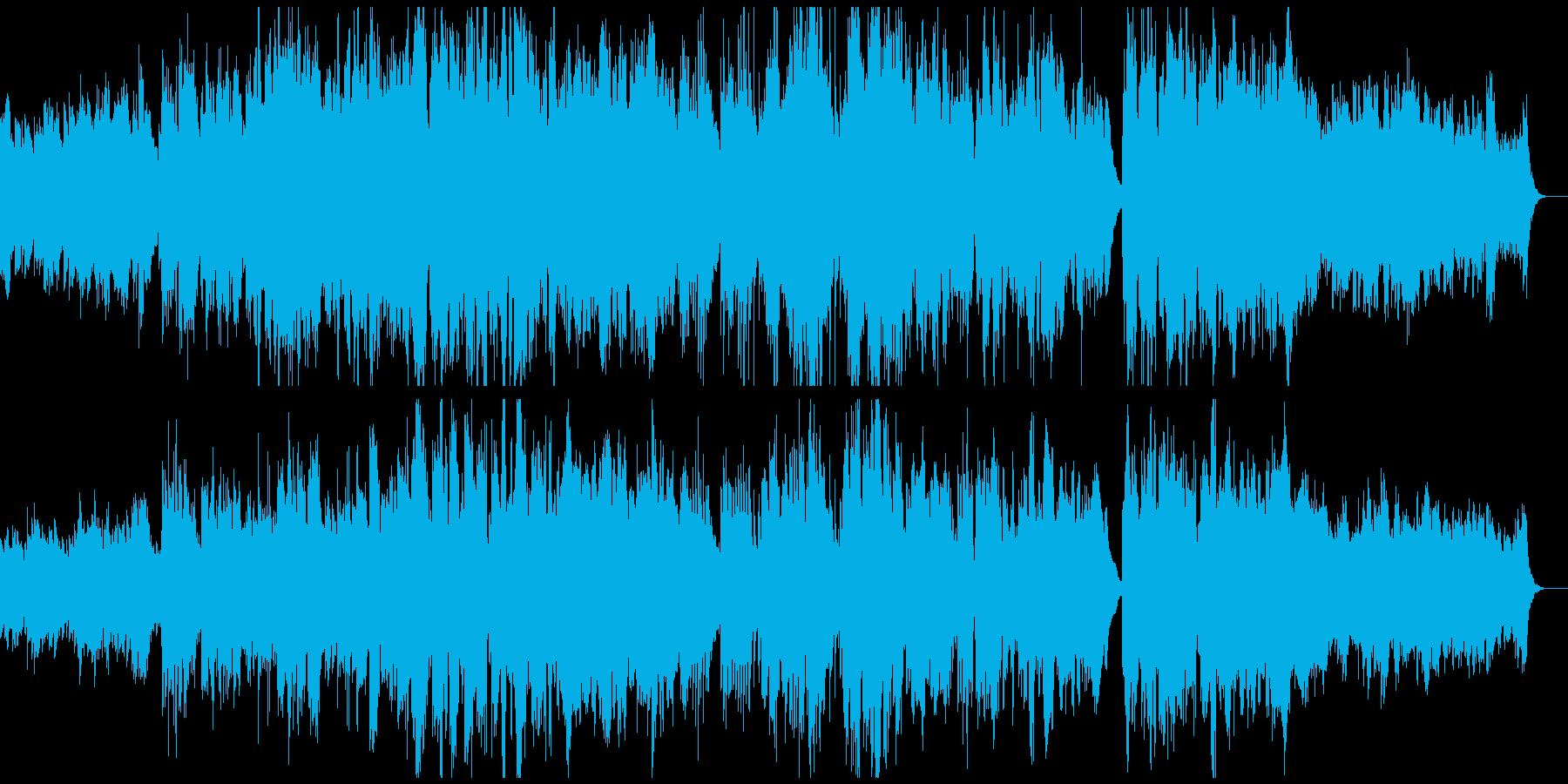優しく感動的なフルートとピアノの再生済みの波形