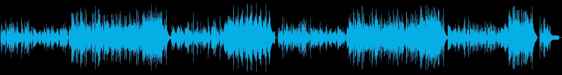 映像、感動シーン、切ないソロピアノの再生済みの波形