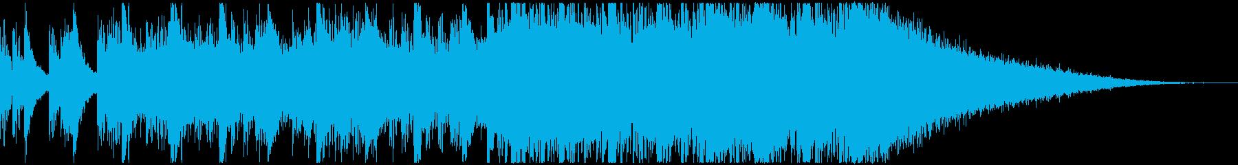 クラップとEDMのワイルドなオープニングの再生済みの波形