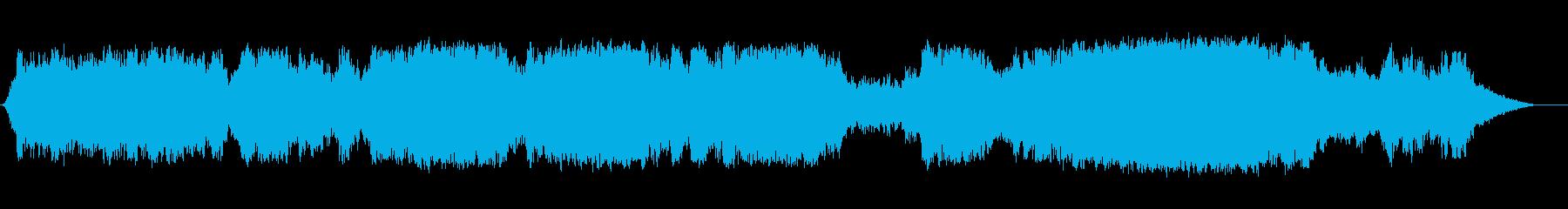 幻想的なオーケストラBGMの再生済みの波形