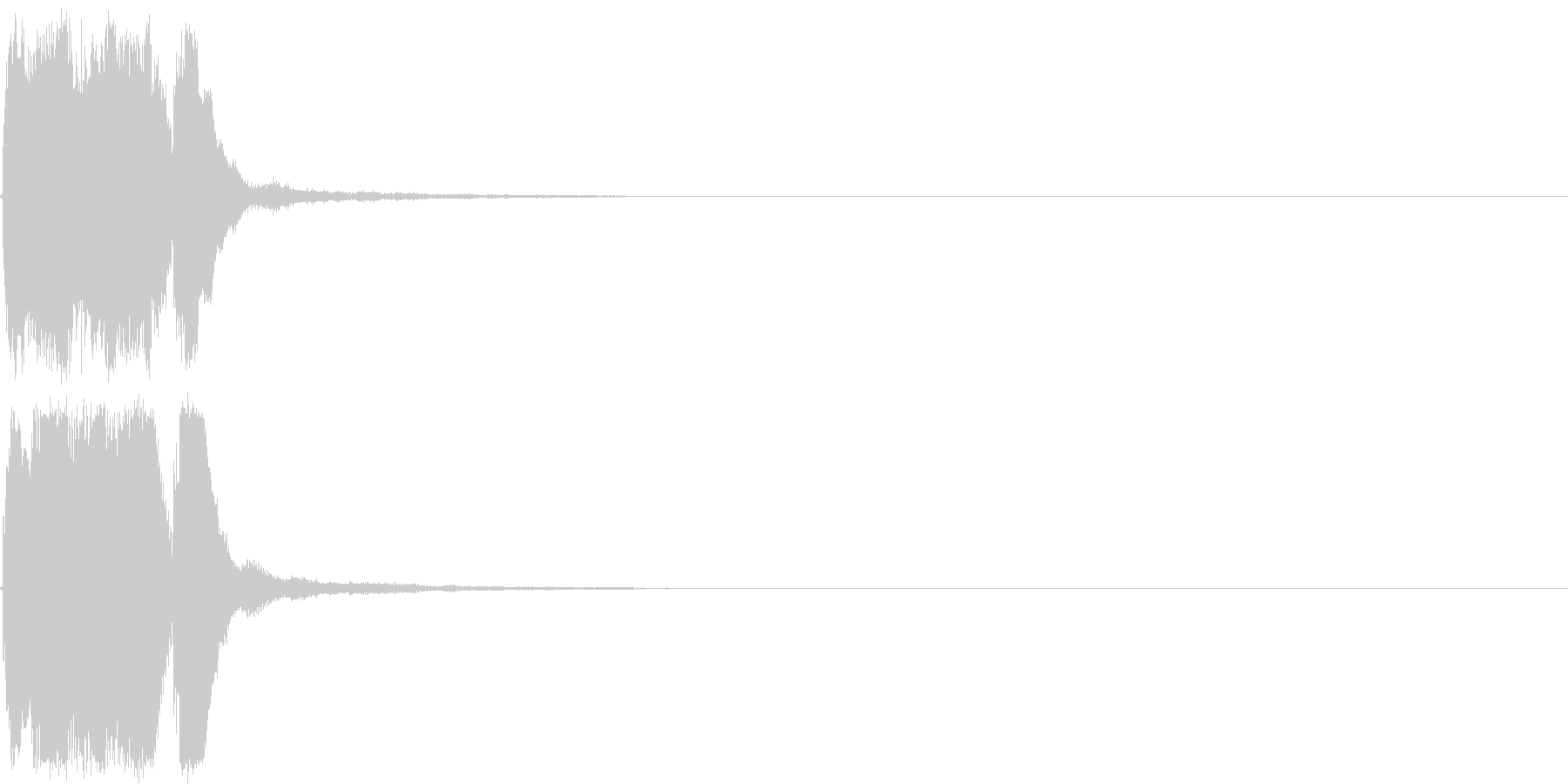 ファンファーレ 当たり 正解 合格 04の未再生の波形