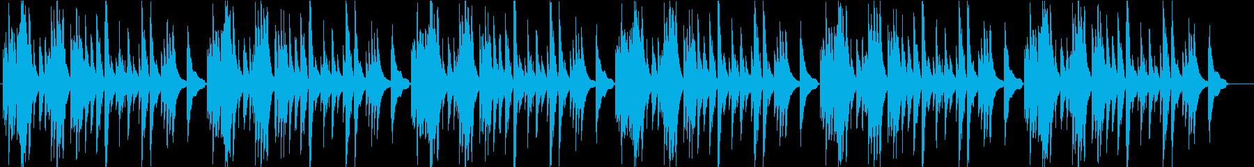 アコギで一本で静かにの再生済みの波形