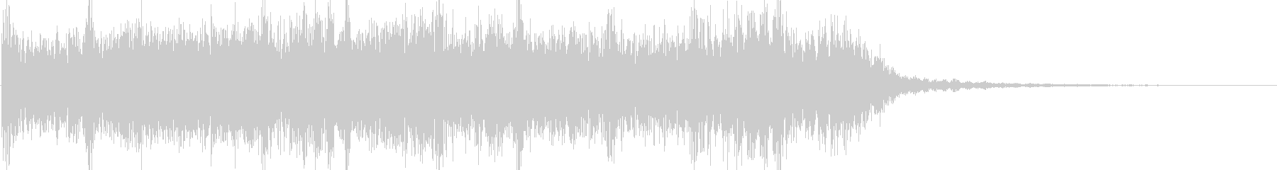 轟音ギターのヘヴィーショートジングルの未再生の波形