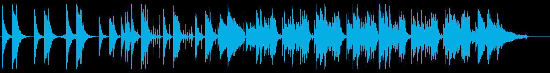 小動物や赤ちゃんをイメージしたほのぼの曲の再生済みの波形