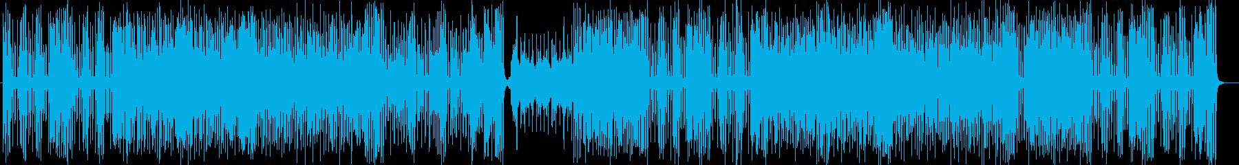 軽快なポップスオーケストラの再生済みの波形